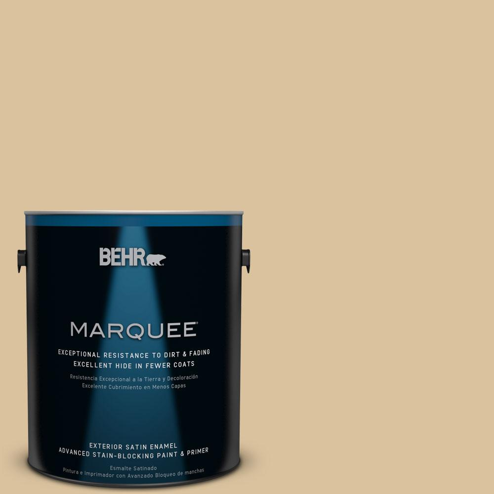BEHR MARQUEE 1-gal. #S310-4 Perennial Gold Satin Enamel Exterior Paint