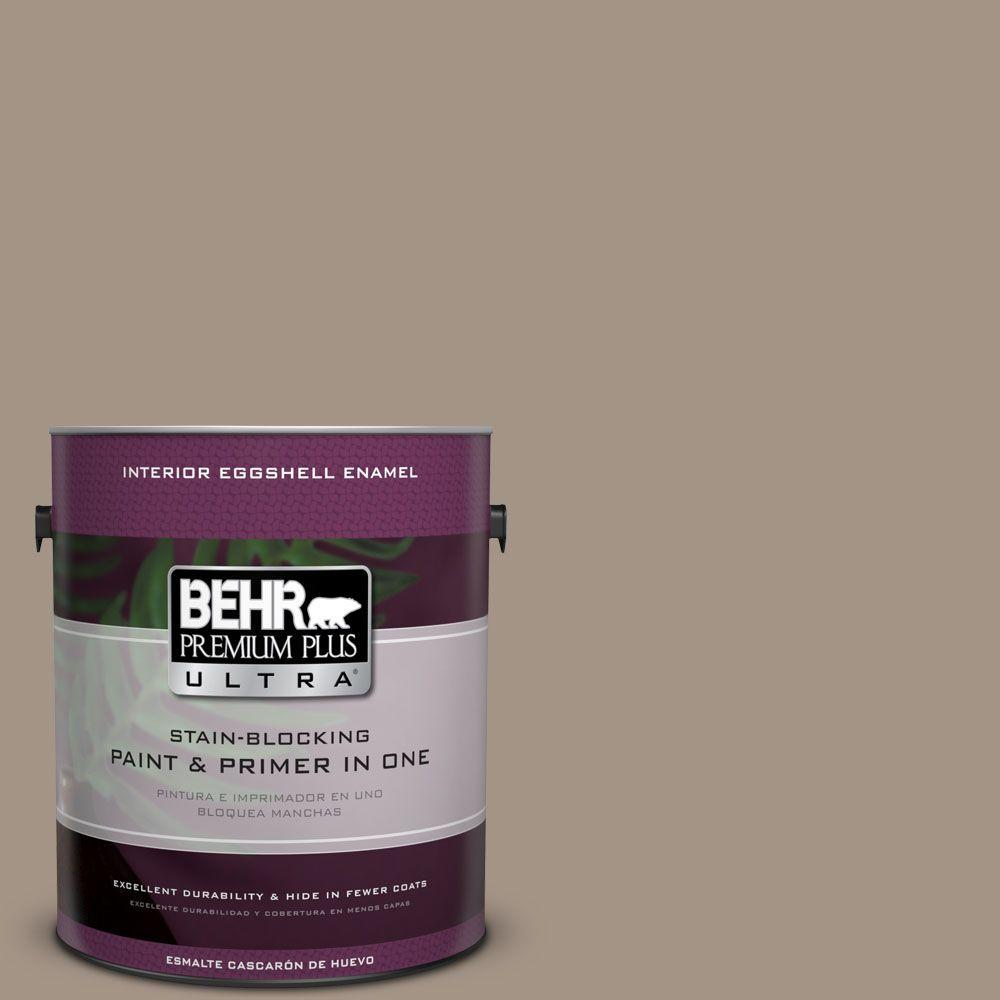 BEHR Premium Plus Ultra 1 gal. Home Decorators Collection #HDC-NT-04A Clay Eggshell Enamel Interior Paint & Primer