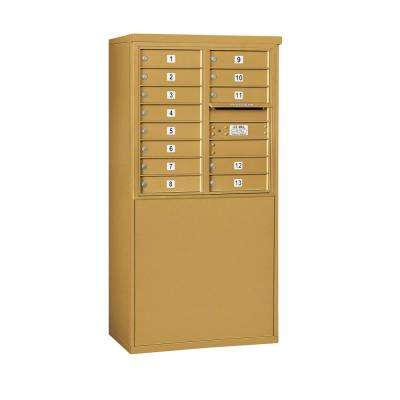 3900 Horizontal Series 13-Compartment Free Standing Mailbox