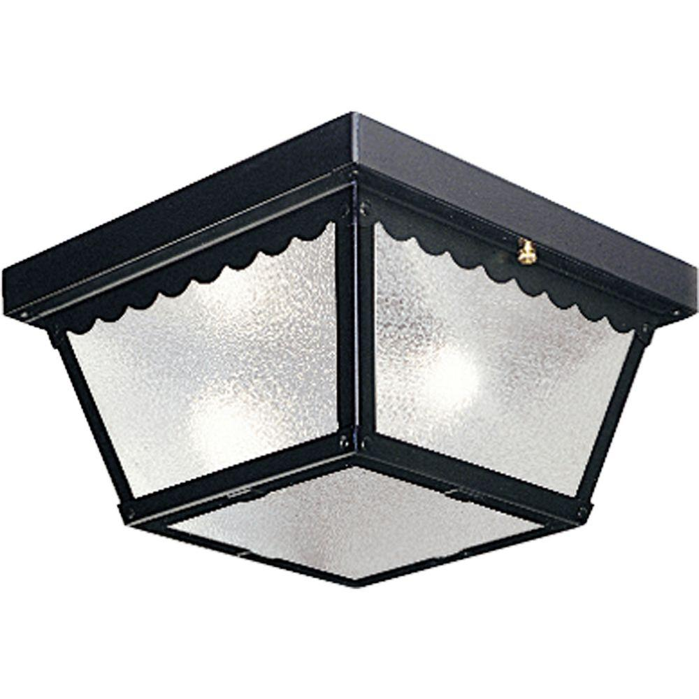 progress lighting 2-light black outdoor flushmount-p5729-31 - the