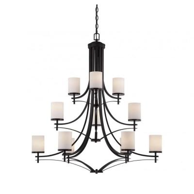 Miles 12-Light English Bronze Chandelier