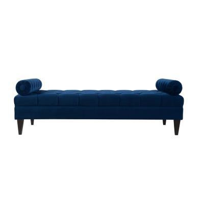 Robert Navy Blue Tufted Daybed