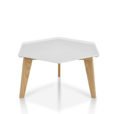 Douce White Geometric Coffee Table