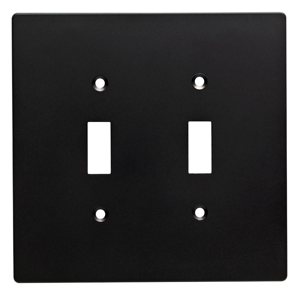 Black Switch Plates Best Hampton Bay Subway Tile Decorative Double Switch Plate Flat Black Decorating Inspiration