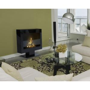 Anywhere Fireplace Triebca Ii 28 In Vent Free Ethanol Fireplace In Black 90201 The Home Depot