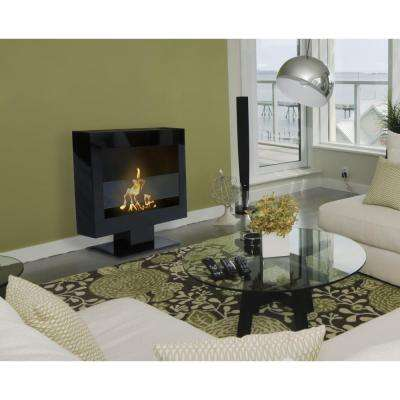 Triebca II 28 in. Vent-Free Ethanol Fireplace in Black