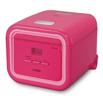 3-Cup Pink Micom Rice Cooker with Tacook Cooking Plate