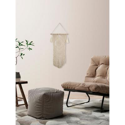 "Beige ""Diamond Macrame"" by Marmont Hill Wall Tapestry"