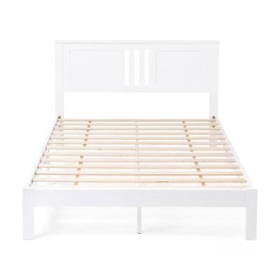 Norland  White Wood Queen Bed Frame