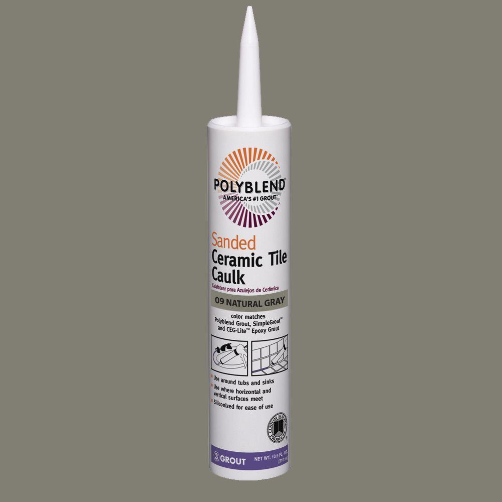 Polyblend #09 Natural Gray 10.5 oz. Sanded Ceramic Tile Caulk
