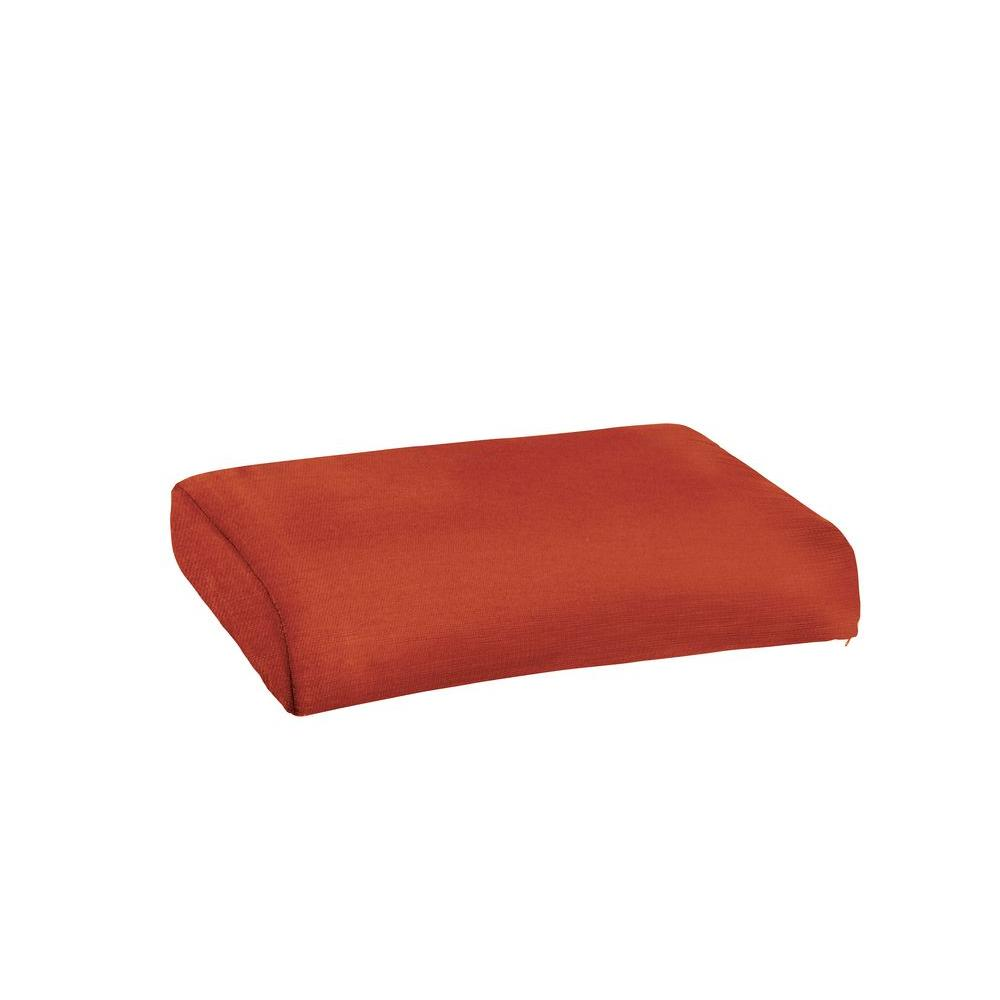 Marquis Replacement Outdoor Ottoman Cushion in Cinnabar