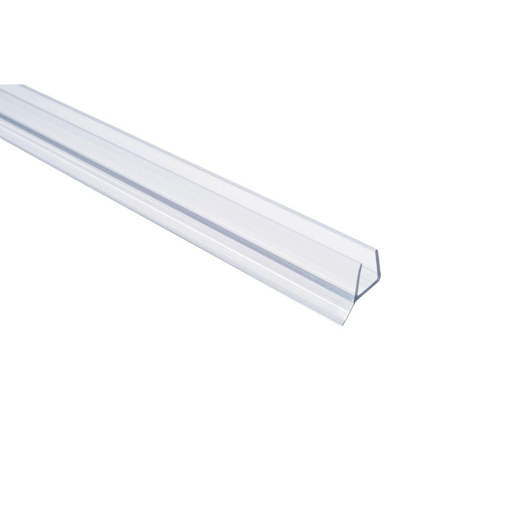 Showerdoordirect 36 in. Frameless Shower Door Seal with Wipe for 1/2 in. Glass in Clear