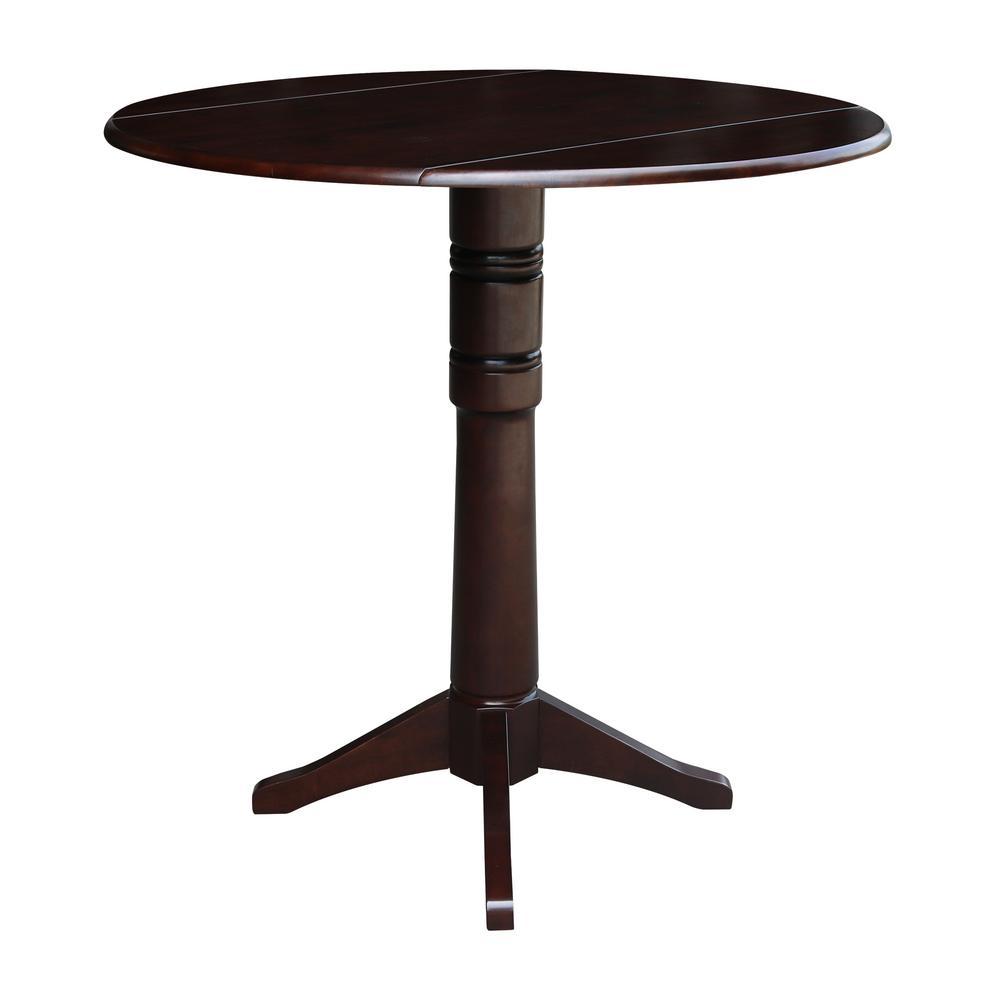 International Concepts Olivia Mocha 42 In Drop Leaf Bar Table K15