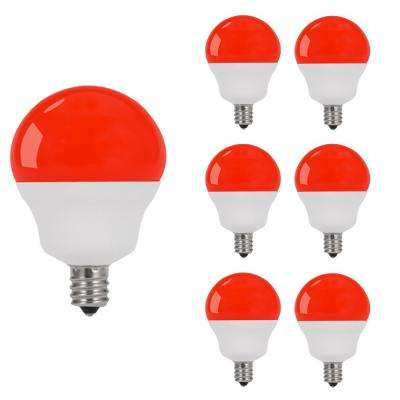 75 Pack Transparent Red Bulbrite 861327 5 W Dimmable C7 Shape Incandescent Bulb Base with Candelabra Screw E12