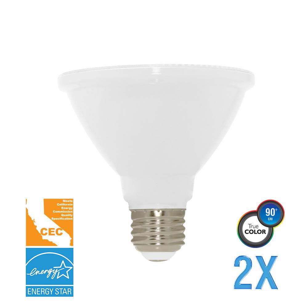 75W Equivalent Soft White PAR30 Short Neck Dimmable LED CEC-Certified Light Bulb (2-Pack)