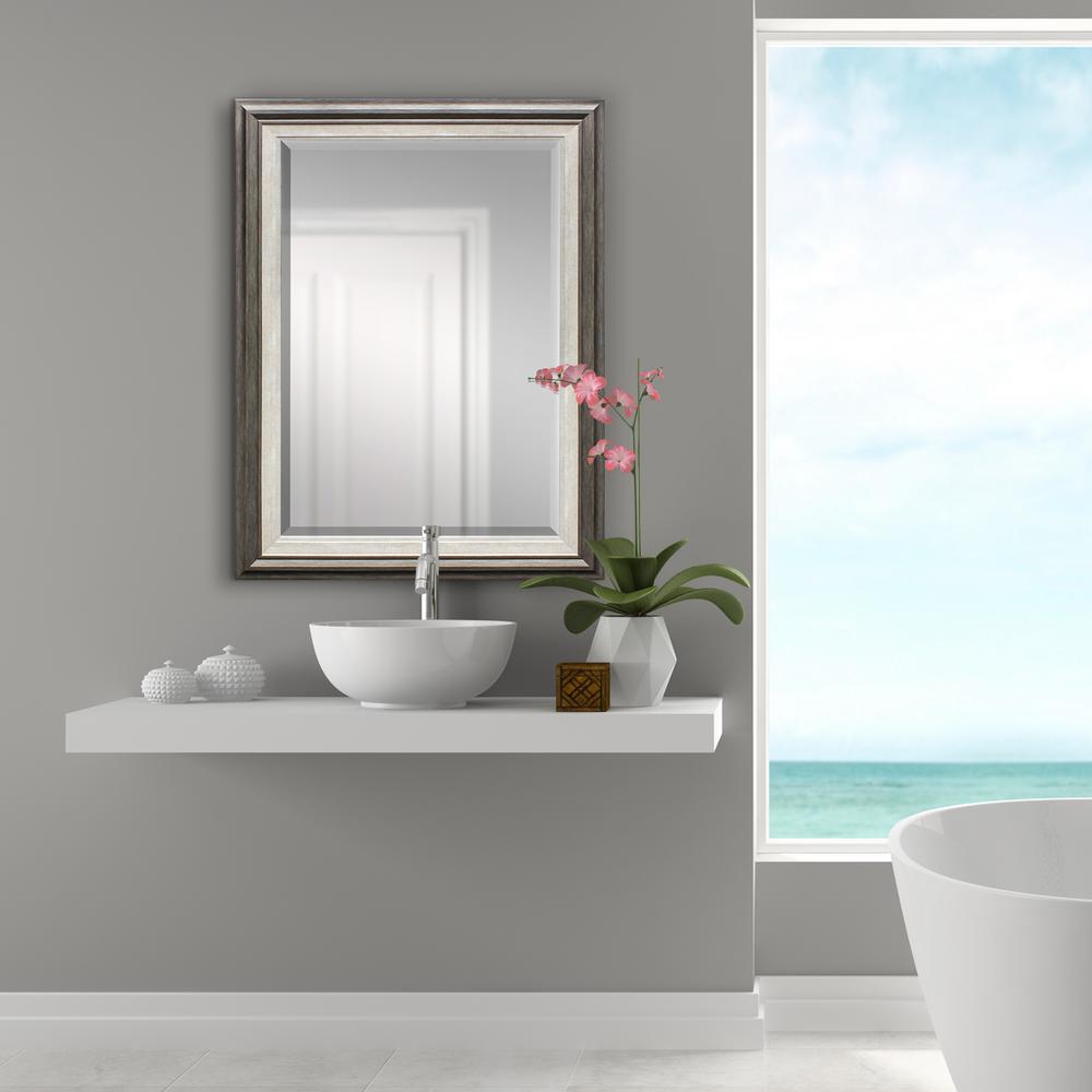 Grey With White Inner Decorative Mirror