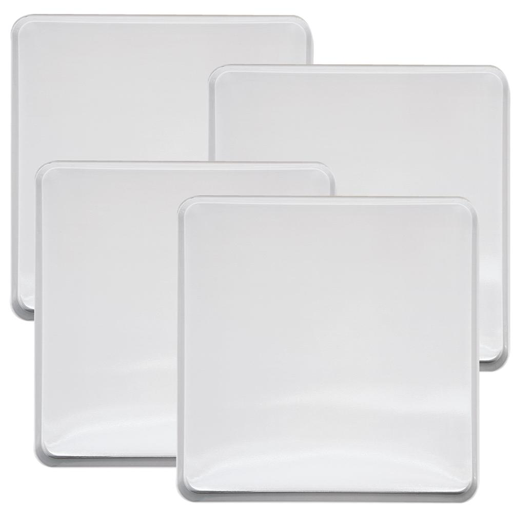 Range Kleen Square Burner Kover in White (4-Pack) Range Kleen White Square Burner Kovers Set of 4 is the traditional white color to fit a variety of decors. Makes your range look like new and is an inexpensive way to re-decorate your kitchen. Square burner kovers also available in stainless steel.