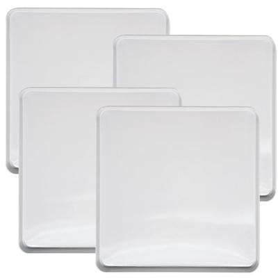 Square Burner Kover in White (4-Pack)