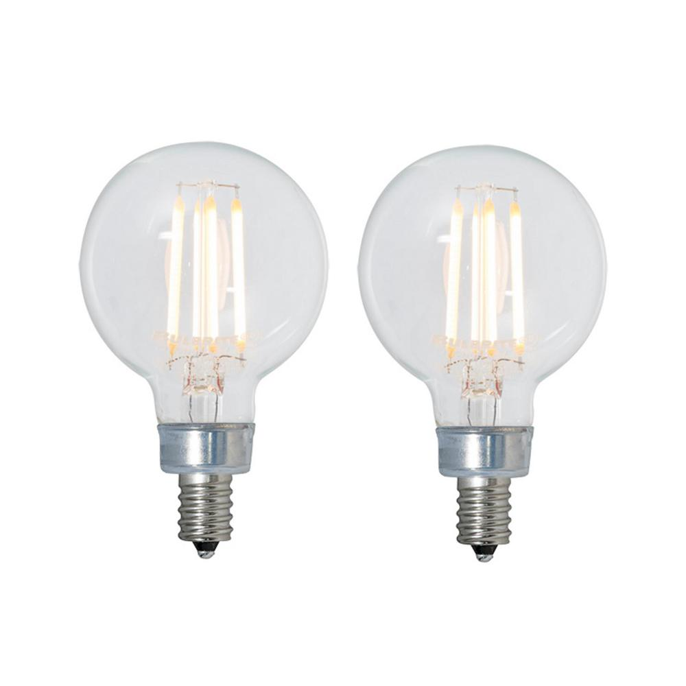 Bulbrite 40w Equivalent Amber Light G25 Dimmable Led: Bulbrite 40W Equivalent Warm White Light G16 Dimmable LED