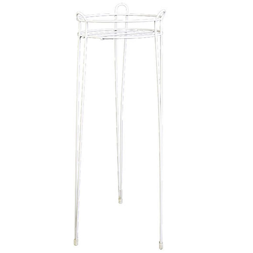 21 in. White Basic Steel Plant Stand
