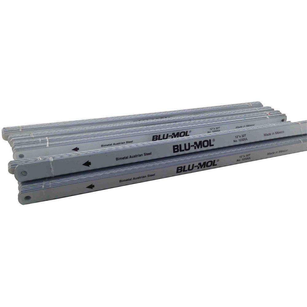 BLU-MOL 12 in. x 1/2 in. x 0.025 in. 32 Teeth per in. Bi-Metal Hack Saw Blade (100-Pack)