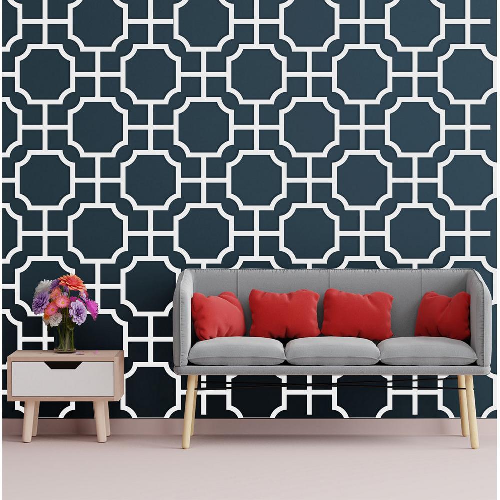 3/8 in. x 27-1/2 in. x 15-3/4 in. Medium Bradley White Architectural Grade PVC Decorative Wall Panels