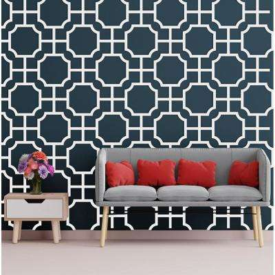 3/8 in. x 27-1/2 in. x 15-3/4 in. Medium Bradley White Architectural Grade PVC Decorative Wall Panels