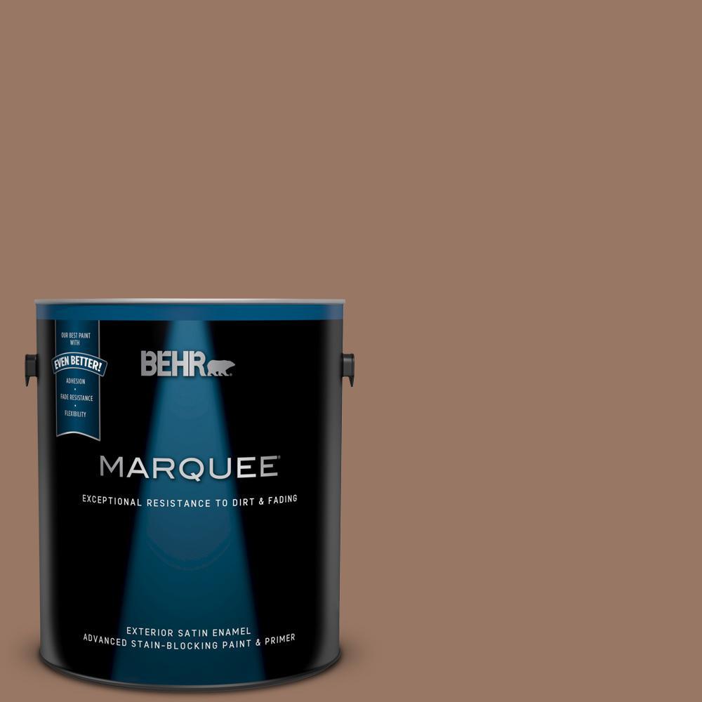 Behr Marquee 1 Gal 250f 5 Fudge Bar Satin Enamel Exterior Paint