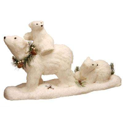 11.7 in. Polar Bear with 2 Babies