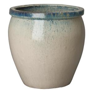 Southern Patio Monroe 22 In X 23 62 In Antique White Resin Composite Planter Hdp 033684 The Home Depot