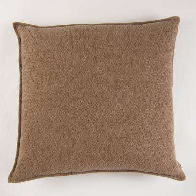 Diamond Textured Matelasse Euro Sham Java