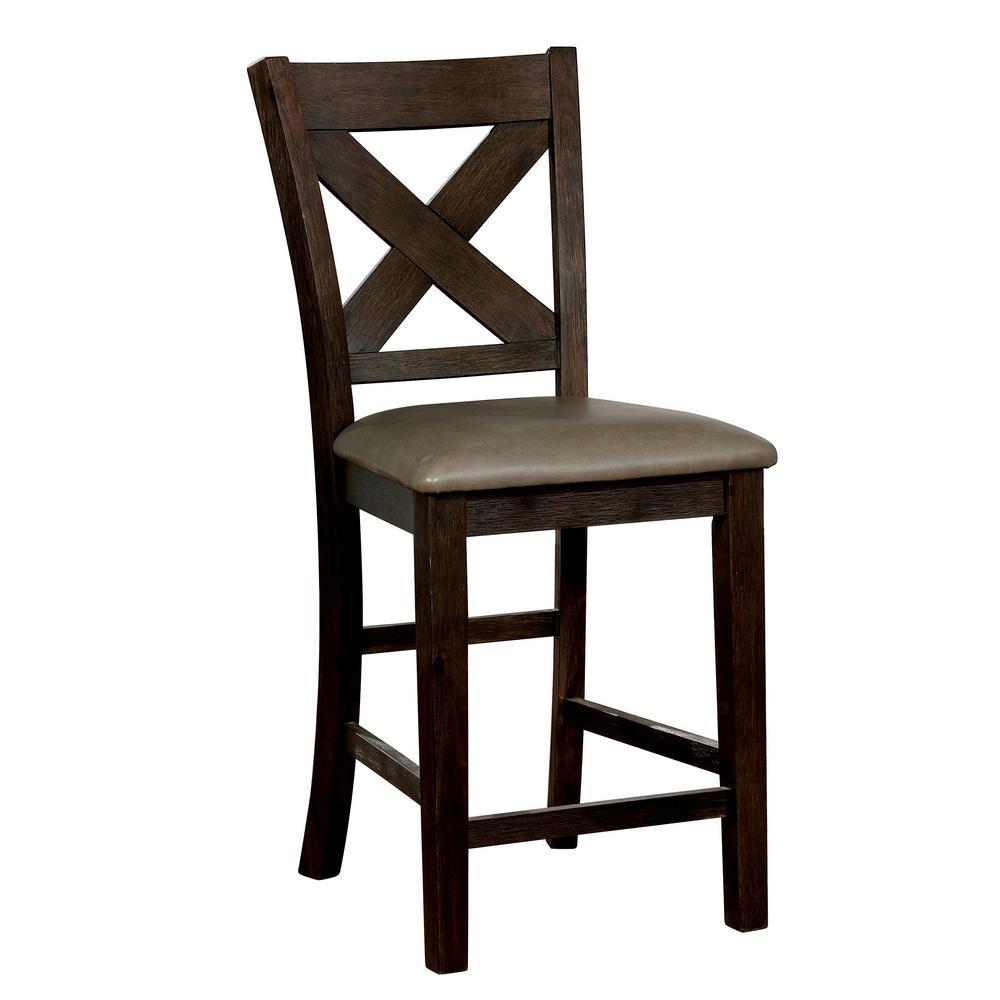 Furniture Of America Alba 26 In Wire Brushed Rustic Brown