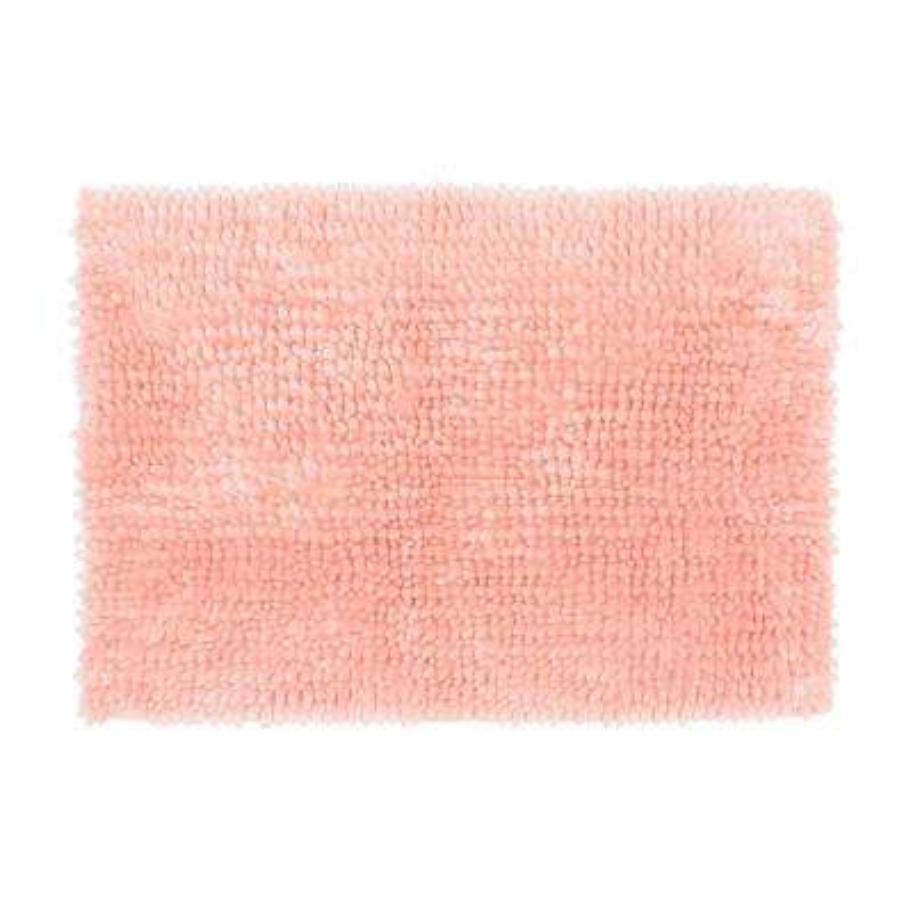 Butter Chenille 17 in. x 24 in. Bath Mat, Pink Mist