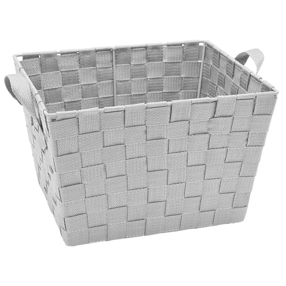 10 In X 12 8 Small Woven Storage Bin Grey