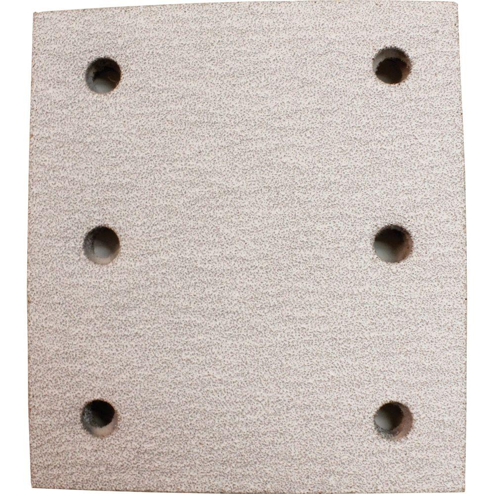 4 in. x 4-1/2 in. 60-Grit Hook and Loop Abrasive Paper