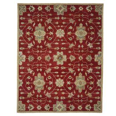 Fairfield Lifestyle Collection Red/Multi 7 ft. 6 in. x 9 ft. 6 in. Area Rug