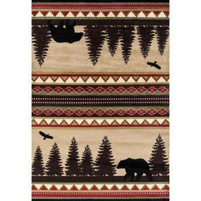 Woodside Bear Stride Beige 2 ft. x 7 ft. Area Rug