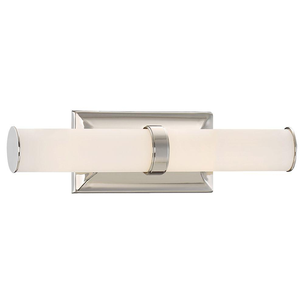 bathroom vanities lighting. good lumens by madison avenue polished nickel led bath vanity light23838 the home depot bathroom vanities lighting