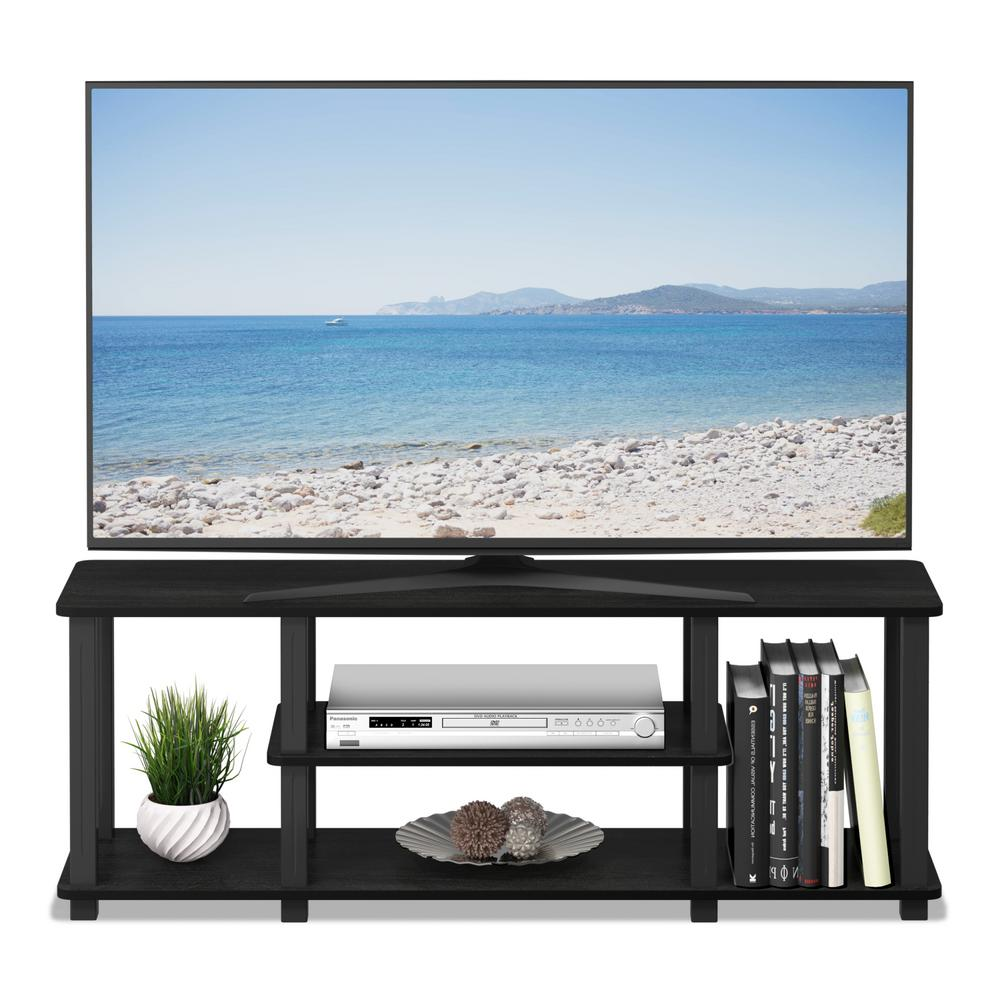 Furinno Turn S Tube Americano Black No Tools 3d 3 Tier Entertainment
