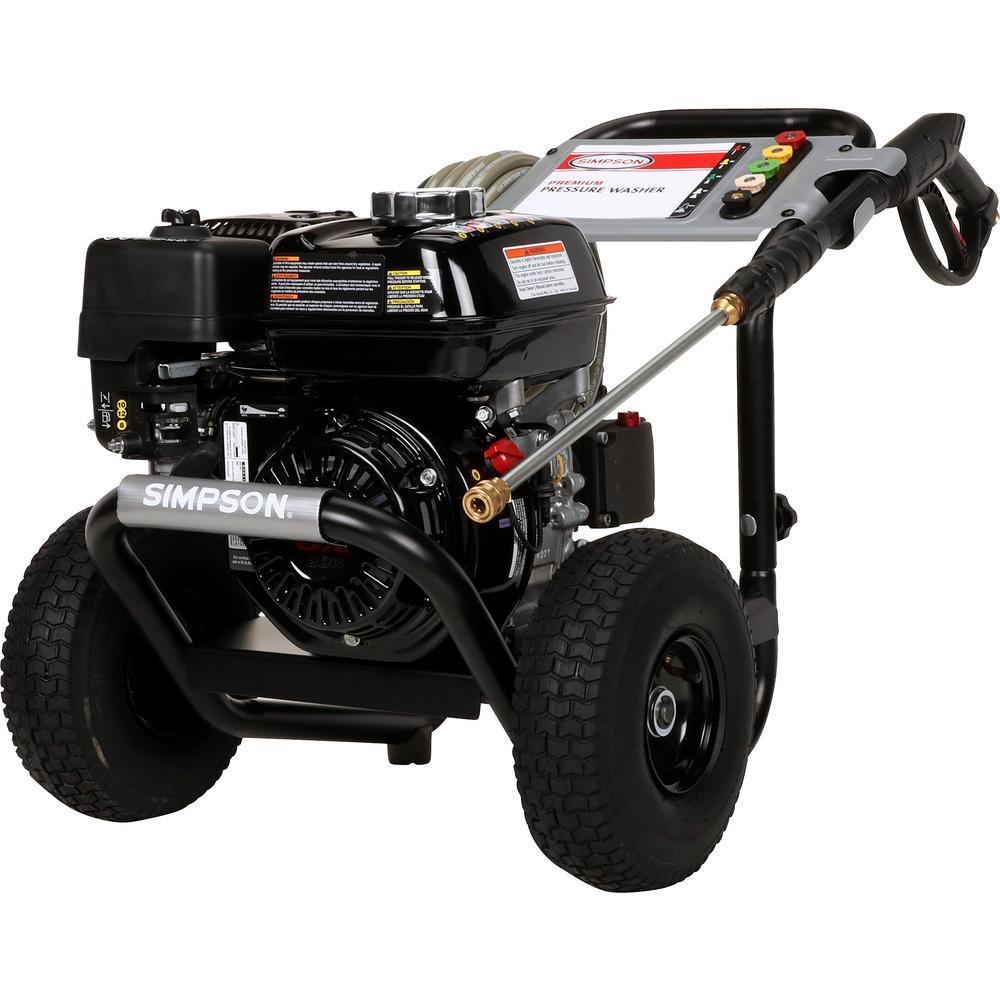 PowerShot 3300 psi at 2.5 GPM HONDA GX200 with AAA Triplex Pump Professional Gas Pressure Washer