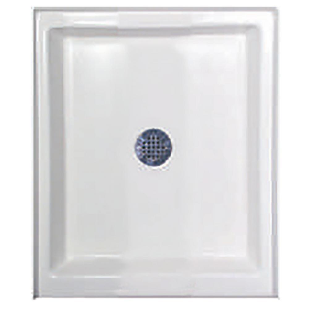 42 in. x 48 in. Single Threshold Shower Base in White
