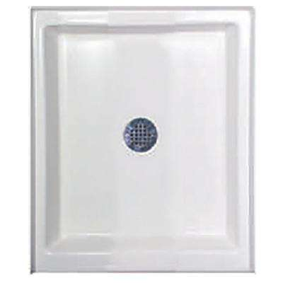 42 in. x 48 in. Single Threshold Shower Base in White