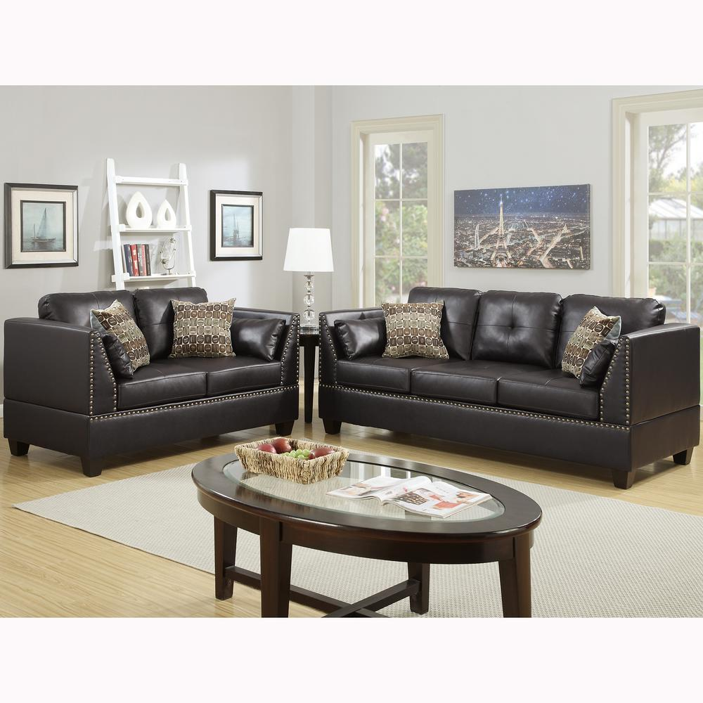 Furniture Living Room Leather Sets 2 Piece