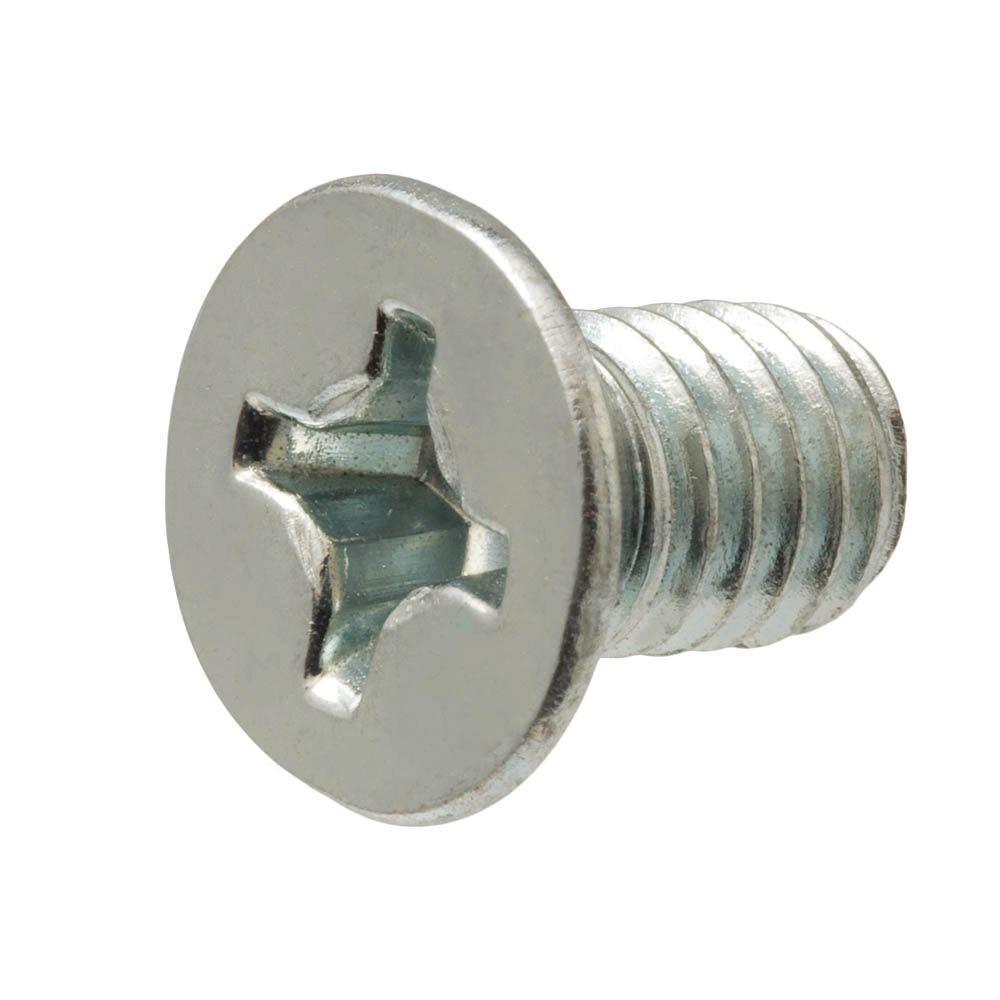 4 mm-0.7 x 10 mm Zinc-Plated Flat-Head Phillips Drive Machine Screw (3-Piece)