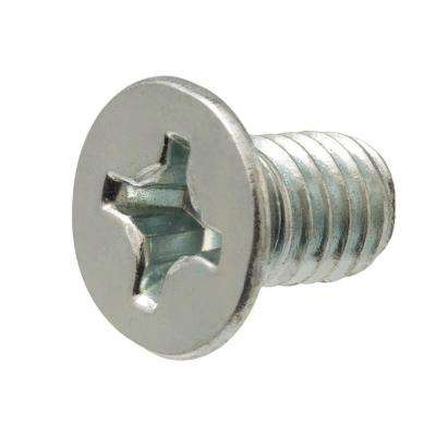 M6-1.0 x 25 mm Zinc-Plated Flat-Head Phillips Drive Machine Screw (2-Piece)