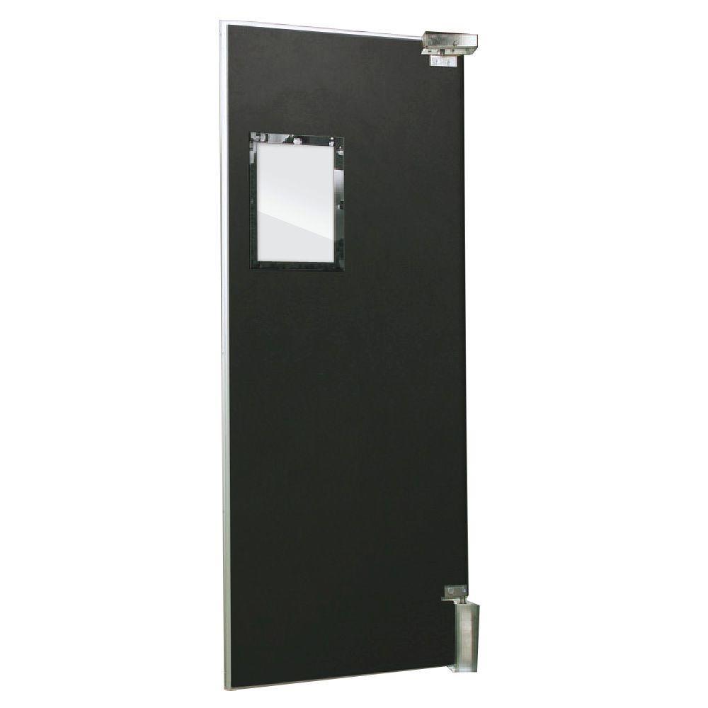Aleco ImpacDor FS-500 3/4 in. x 48 in. x 84 in. Black Wood Core Impact Door