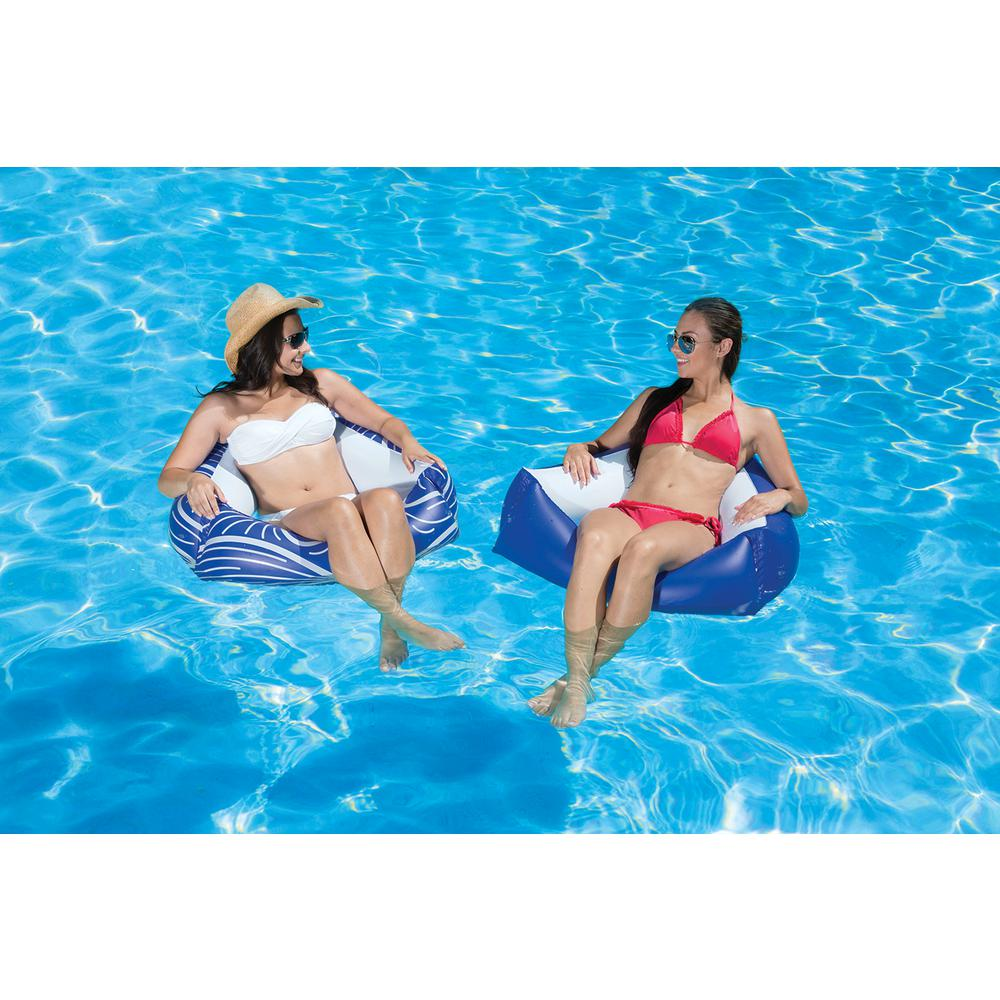 Poolmaster Catalina Swimming Pool Float Water Chair - 2 Pack