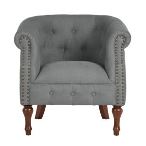 Deals on Home Decorators Whitley Walnut Teal Wood Accent Chair