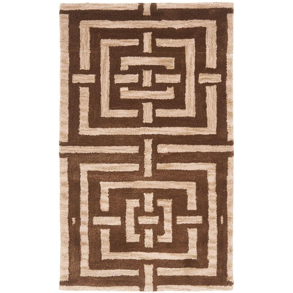 Wyndham Brown 2 ft. 6 in. x 4 ft. Area Rug