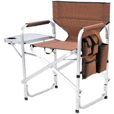 Stylish Camping Brown Full Back Folding Director's Chair